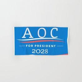 AOC for Prez Hand & Bath Towel
