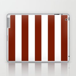 Kenyan copper red - solid color - white vertical lines pattern Laptop & iPad Skin