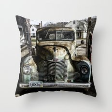 Vintage pickup truck Throw Pillow