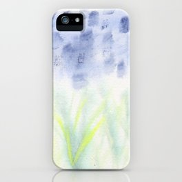 Hill Country Texas Bluebonnet Abstract iPhone Case