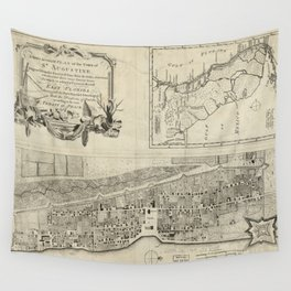 Vintage Map of St. Augustine FL (1764) Wall Tapestry