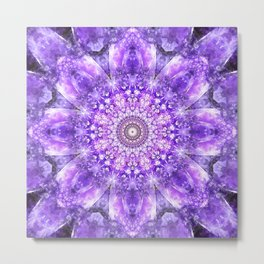 Light of Hope Mandala Metal Print