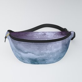 Watercolor and nebula abstract design Fanny Pack