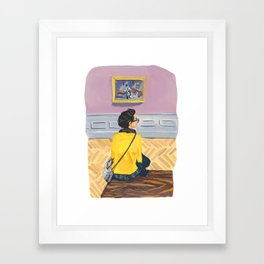 """Have you seen my other shoe?"" Framed Art Print"