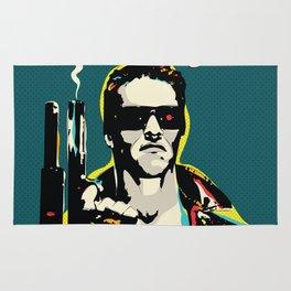 The Terminator Pop art film quote Rug