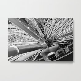Black and White Neon Lights- 5 of 8 Metal Print