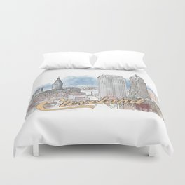 Cleveland, Ohio Duvet Cover