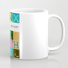 Hand Drawn Alphabet Mug