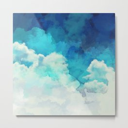 Absract Watercolor Clouds Metal Print