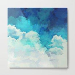 Absract Watercolor Clouds Metal Print