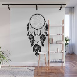 Dream catcher silhouette Wall Mural