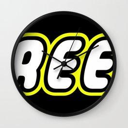 FREEK in Brick Font Logo Design by Chillee Wilson Wall Clock