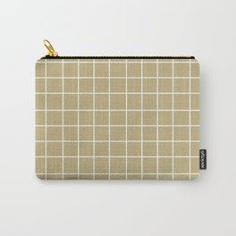 Grid (White/Sand) Carry-All Pouch