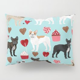 French Bulldog cupcakes valentines love hearts cute frenchie must have gifts Pillow Sham
