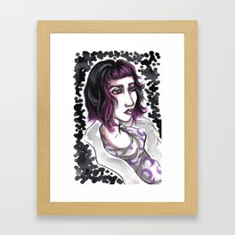 Moon Gazing in My Mind Framed Art Print