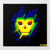 skeletor Canvas Prints featuring Skeletor by jaeTanaka