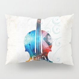 Colorful Violin Art by Sharon Cummings Pillow Sham