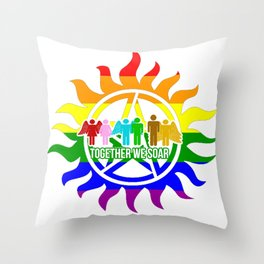 Together we soar - Protection Throw Pillow