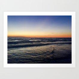 Sunset at Sable Art Print