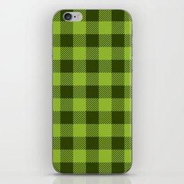 Buffalo Plaid: Green iPhone Skin