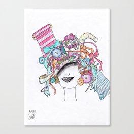 365 cabelos - sewing Canvas Print