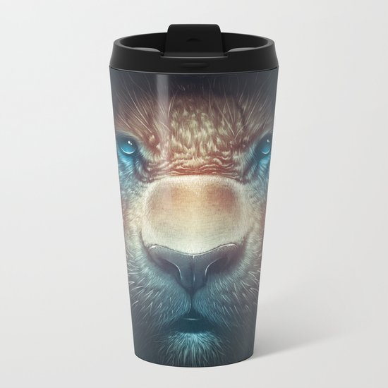 Red Tiger Metal Travel Mug