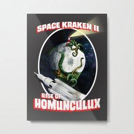Space Kraken II Metal Print