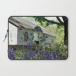 Birdhouse and Barn in Spring Laptop Sleeve