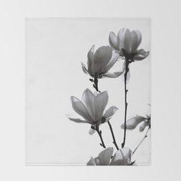 BLACK MAGNOLIA Throw Blanket