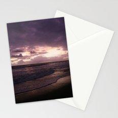 purple beach sunset, puerto vallarta Stationery Cards