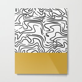 Color Block Yellow Metal Print
