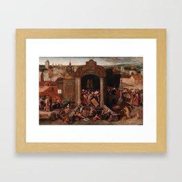 Christ Driving the Traders from the Temple, Pieter Bruegel the Elder Framed Art Print
