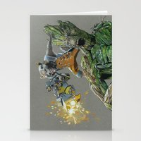 guardians Stationery Cards featuring Guardians by theMAINsketch