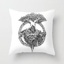 Paradise Tree Throw Pillow