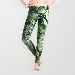 Leaf the jungle watercolor pattern Leggings