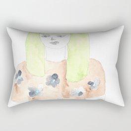 170404 Random 4 |Modern Watercolor Art Rectangular Pillow