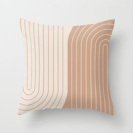 Two Tone Line Curvature XXXIX Throw Pillow