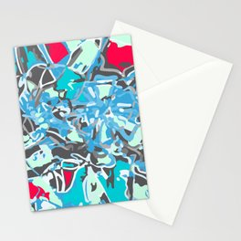 light trails blue Stationery Cards