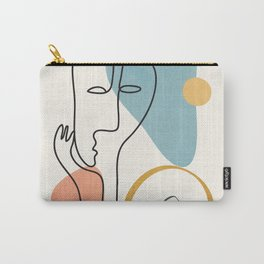 Abstract Faces 32 Carry-All Pouch