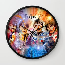 Thebeatles Painted Wall Clock