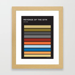 The colors of StarWars - Revenge of the sith episode 3 Framed Art Print