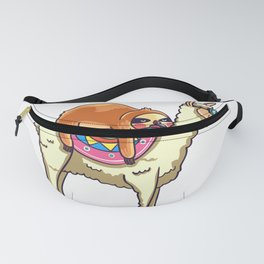 Sloth Riding Llama For Lovers Gift Alpaca Funny Fanny Pack