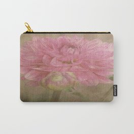 Soft Graceful Pink Painted Dahlia Carry-All Pouch