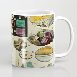 Minerals Vintage Scientific Illustration French Language Encyclopedia Lithographs Educational Diagra Coffee Mug