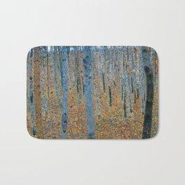 Gustav Klimt - Beech Grove I - Forest Painting Bath Mat