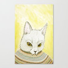 SWEATER AND ALSO CAT Canvas Print