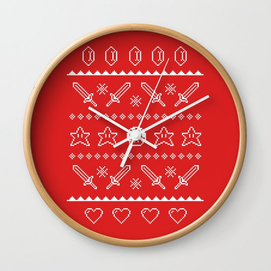 Festive Adventures in Gaming Wall Clock