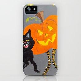Jack and Black Cat iPhone Case
