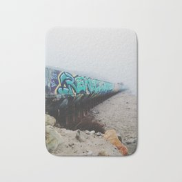 Beach Graffiti Bath Mat
