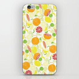 Citrus Zing (white) iPhone Skin
